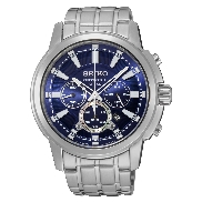 Seiko Mens watch style #SSC387 - Solar - Chronograph - Water resistant to 100m - Stainless steel  - Screw case - Lumibrite