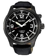 Men s Seiko watch SKA709 with:  - Water resist 100m - Screw case - Genuine leather - Lumibrite