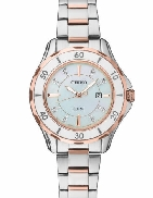SUT340 lady s Seiko watch - Solar - water resistant to 50m - stainless steel  - diamonds - mother of pearl dial