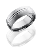 Titanium Polish and Satin finish ring by Lashbrook 8mm size 10