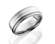 Titanium 8REF21/SS2UMIL satin/polish size: 9.5