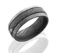 Damascus Steel D8D2.5 acid/bead size: 10
