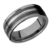 Men s Tungsten Ceramic band 8mm wide MS finish size 10.5 TCR8347-8F21/ceramic