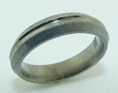 Titanium Mens Band  6mm Size 10 Comfort fit