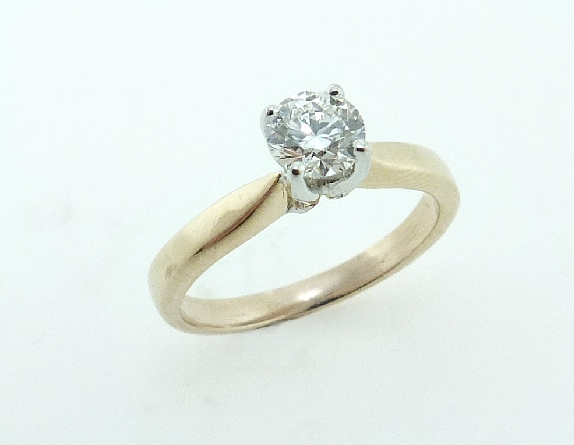 14K yellow gold engagement ring by Troy Shoppe set with: -  - 0.462 I; VS2 HOF -  - HOF141721