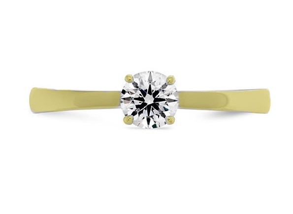 18K yellow gold enagement ring    Signature Solitaire   By Hearts On Fire set with: - - 0.51ct I; SI1 - HOF146803