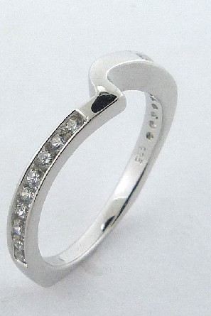 Irresistible  Matching Band by Mark Schneider - Sterling silver mount set with 0.26ctw CZ
