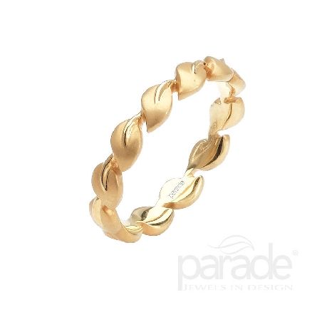 18 karat yellow gold eternity band; part of the Lyria Leaves Collection by Parade Designs.