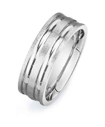 14KW Mens Band Size 10 7.5 mm