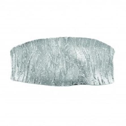 Silver with Rhodium Finish Sparkle Sandblasted Square Plane Graduated Cuff Bangle